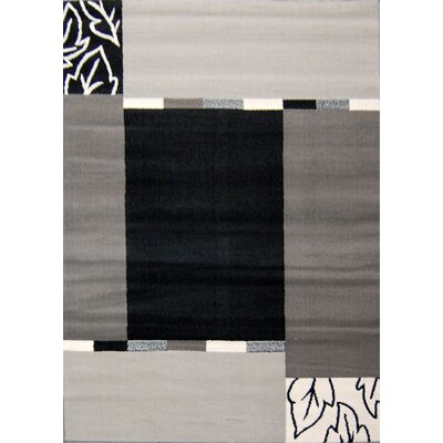 House Additions Grey and Black Area Rug