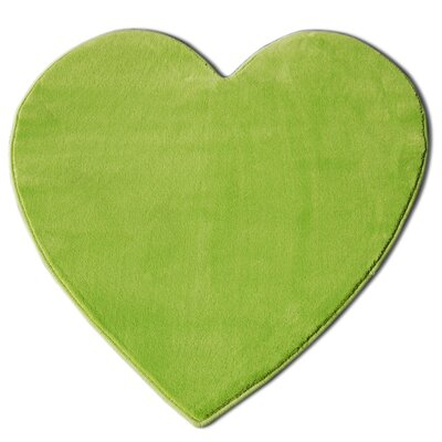 House Additions Heart Green Area Rug