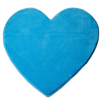 House Additions Heart Blue Area Rug