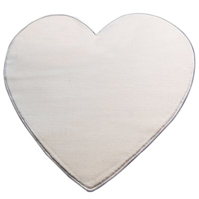 House Additions Heart Ivory Area Rug