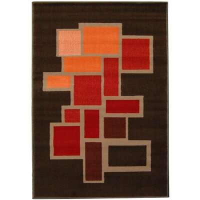 House Additions Brown Area Rug