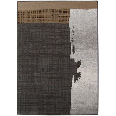 House Additions Dark Gray Area Rug