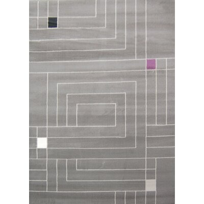 House Additions Grey Boxed Area Rug