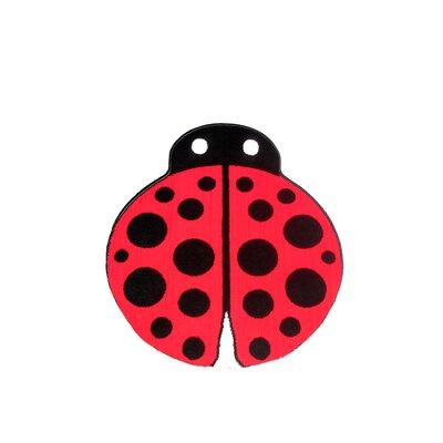 House Additions Max Red Ladybug Area Rug