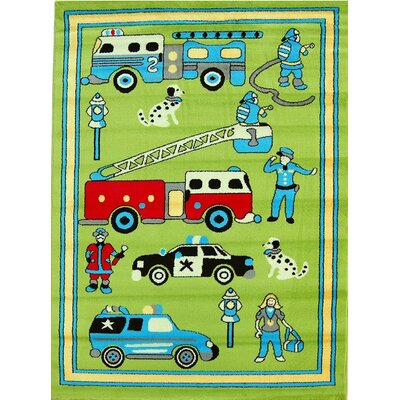 House Additions Max Green Area Rug