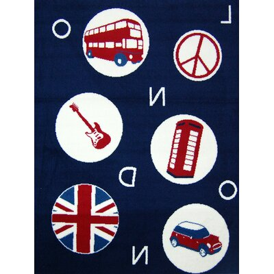 House Additions Blue London Area Rug