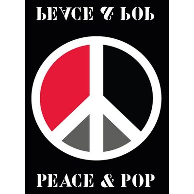 House Additions Black Peace & Pop Area Rug