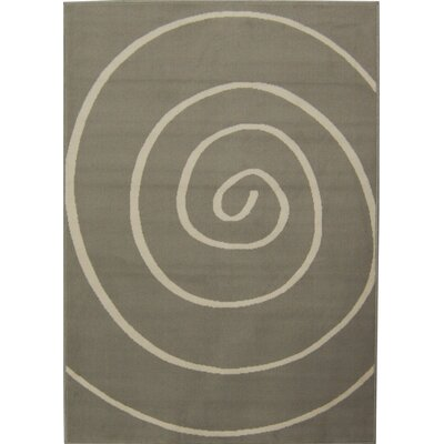 House Additions Curve Grey Area Rug