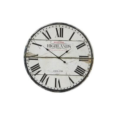 House Additions Oversized 80cm Lanzelot Wood Wall Clock