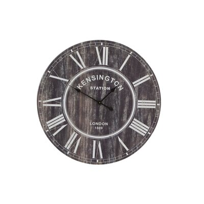 House Additions Oversized 80cm Bezdna Wood Wall Clock