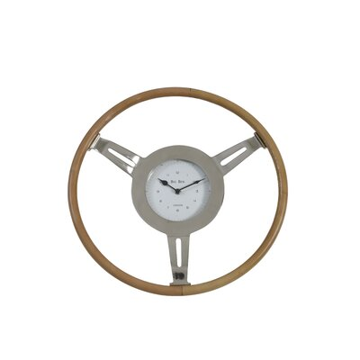 House Additions Vorozeh 46cm Leather Wall Clock