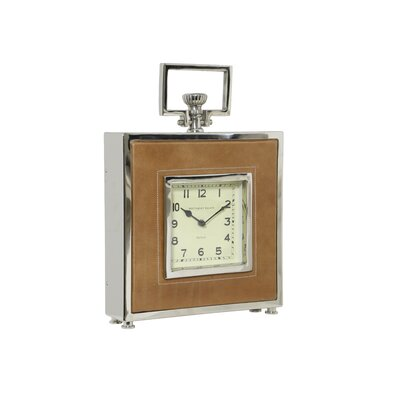 House Additions Parque Leather Clock