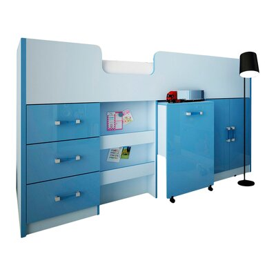 House Additions Single Mid Sleeper Bed with Storage