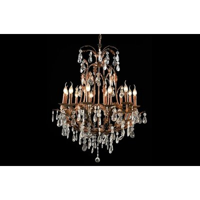 House Additions Premium 12 Light Crystal Chandelier