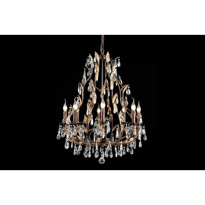 House Additions Premium 8 Light Crystal Chandelier
