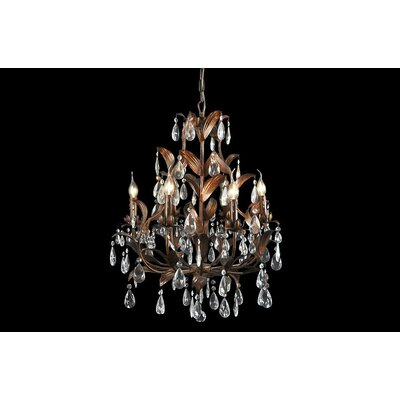 House Additions Premium 5 Light Crystal Chandelier