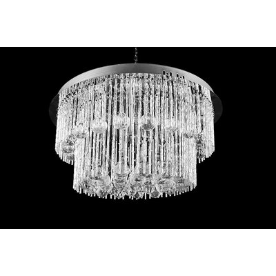 House Additions Marston 15 Light Semi-Flush Ceiling Light
