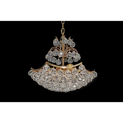 House Additions London 8 Light Crystal Chandelier