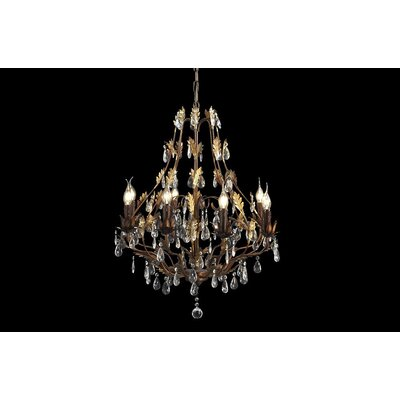 House Additions Premium 6 Light Crystal Chandelier