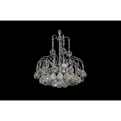 House Additions London 3 Light Crystal Chandelier