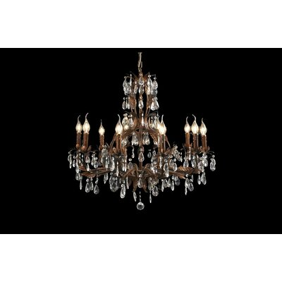 House Additions Premium 10 Light Crystal Chandelier