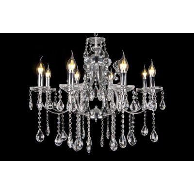 House Additions Superior 8 Light Crystal Chandelier