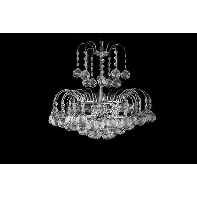 House Additions London 6 Light Crystal Chandelier