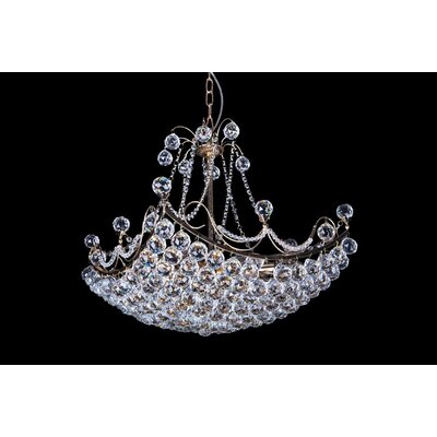 House Additions London 10 Light Crystal Chandelier