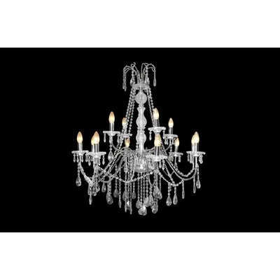 House Additions Superior 12 Light Crystal Chandelier