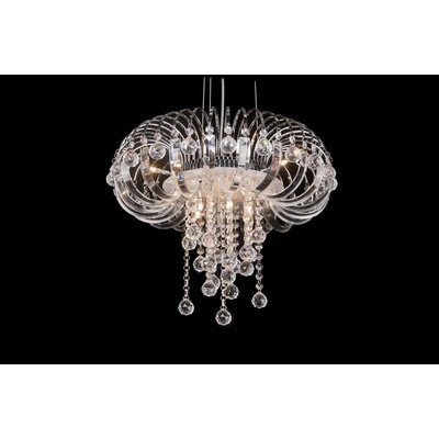 House Additions Royale 9 Light Crystal Chandelier