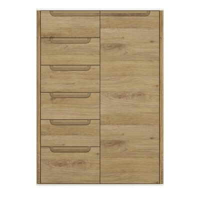 House Additions Burrell 1 Door 6 Drawer Cabinet