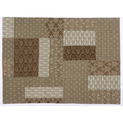 House Additions Sevran Patch Handmade Beige/Grey Area Rug