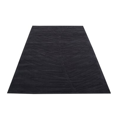 House Additions Caen Black Area Rug