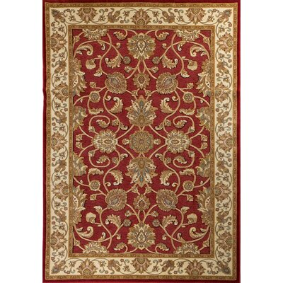 House Additions Epinal Red/Beige Area Rug