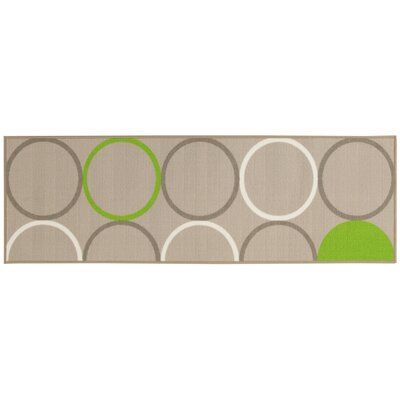 House Additions Dijon Beige/Green Area Rug