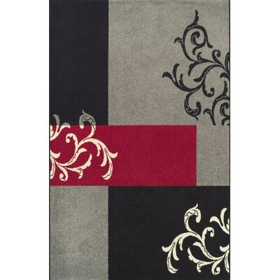 House Additions Arras Red/Grey Area Rug
