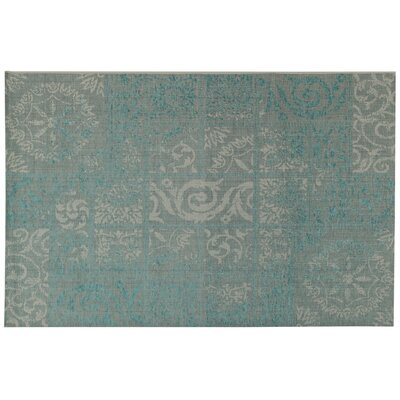 House Additions Auxerre 1 Turquoise Area Rug