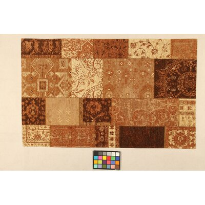 House Additions Annecy Brown Collage Area Rug