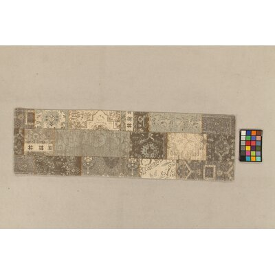 House Additions Annecy Grey Collage  Area Rug