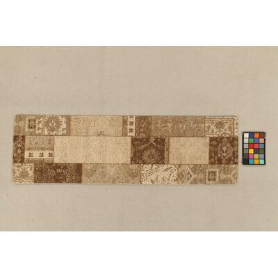 House Additions Annecy Beige Collage Area Rug