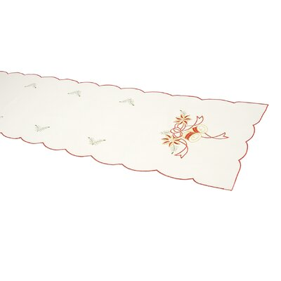 House Additions Red Bells Embroidered Runner