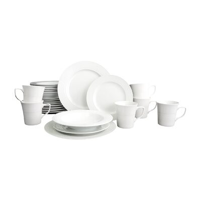 House Additions Arena Embossed 24 Piece Porcelain Dinnerware Set