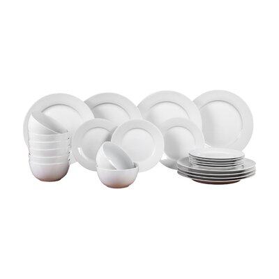 House Additions Porcelain Pure 24 Piece Dinnerware Set
