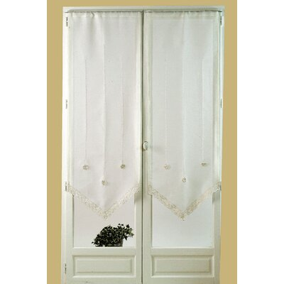 "House Additions ""Flower Crochet"" Curtain Panel"