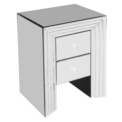 House Additions 2 Drawer Bedside Table