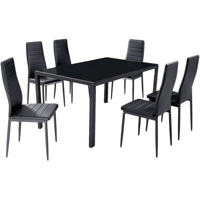 House Additions Gomeisa Dining Table and 6 Chairs