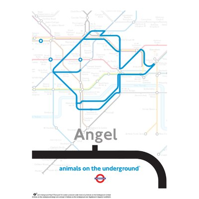 House Additions Animals on the Underground Angel Graphic Art