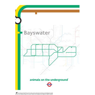 House Additions Animals on the Underground Bayswater Graphic Art