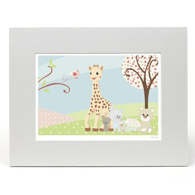 """House Additions Sophie La Girafe """"A Day Out"""" Graphic Art"""