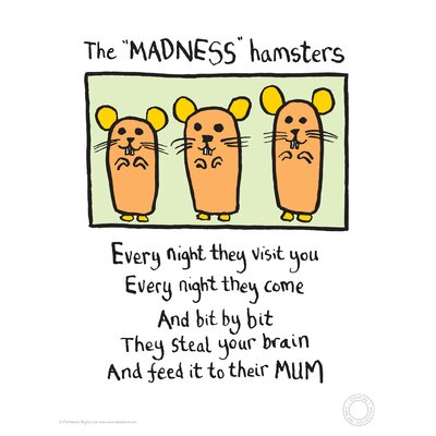 House Additions Edward Monkton Madness Hamsters Art Print